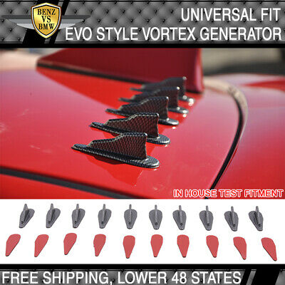 Universal Spoiler Air Vortex Generator Diffuser VG EVO Style 10Pc Carbon Look PP