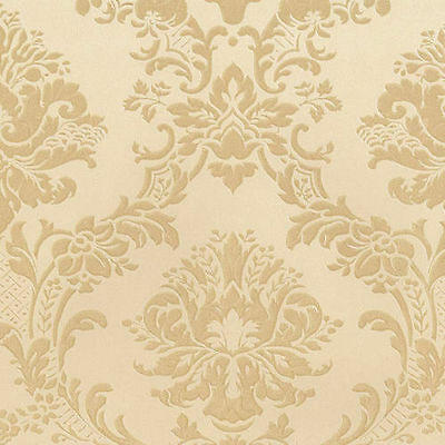 Victorian Damask Wallpaper MD29435 Tone on Tone Gold Double Roll FREE SHIPPING