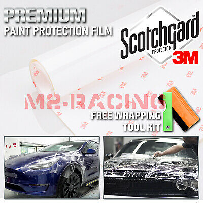 *3M Scotchgard Hood Bumper Clear Paint Protection Bra Film Vinyl Wrap Decal 12""