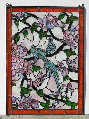 Stained glass window bird of paradise NEW #43