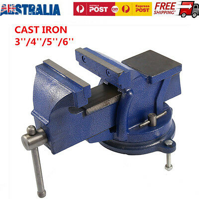360° Swivel Base Heavy Duty Engineers Work Bench Vice Grip Clamp Anvil 3/4/5/6''