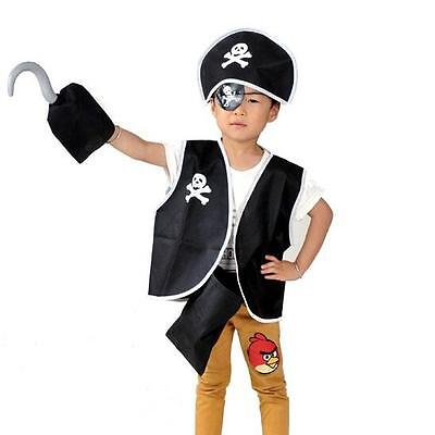 5 Pcs Set Kids Child Pirate Costume Halloween
