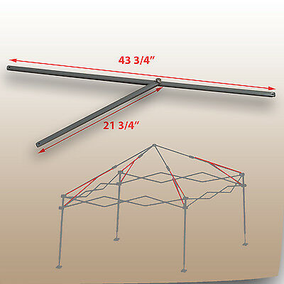 Coleman 10 x 10 Straight Leg Canopy/Gazebo 2 PEAK TRUSS Bars Replacement Parts : coleman canopy parts - afamca.org