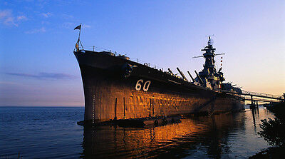 "USS Alabama Battleship- 42"" x 24"" LARGE WALL POSTER PRINT NEW."