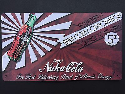Tin Sign Vintage Nuka-Cola Refreshing Quench Your Thirst