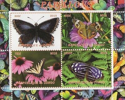 2013 Papillons Butterfly Insect Republique Du Congo Mnh Stamp Sheetlet