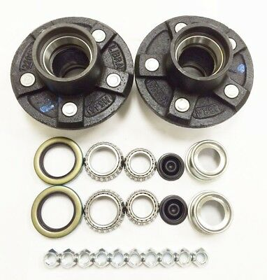 2 Trailer Idler Hub Kits 5 on 4.5 for 3500 lbs Axle - 22017K