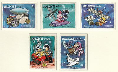 (74576) Maldives MNH Disney Space Exploration x5 stamps unmounted mint