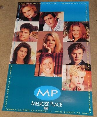 MELROSE PLACE MOVIE POSTER Original 27x40 RARE Promo One Sheet HEATHER LOCKLEAR