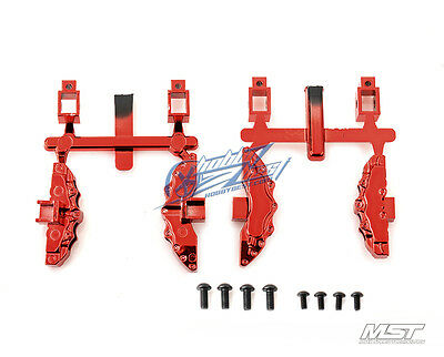 MST Enlarged brake calipers (anodized red) (4) 210510R New