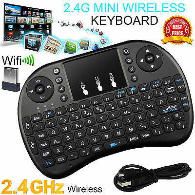 New 2.4G Wireless Air Keyboard Mouse Qwerty Remote Touchpad XBMC Android TV BOX