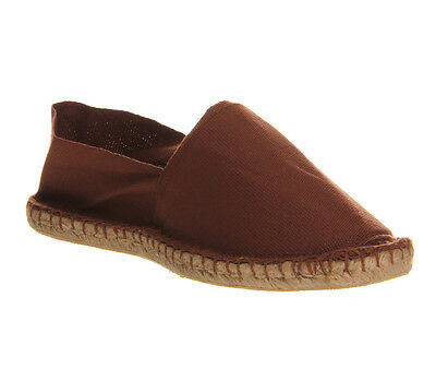 Mens Office Solemate Espadrilles BROWN CANVAS Casual Shoes