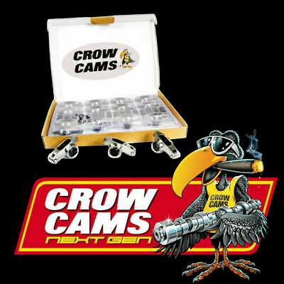 "Crow Cams Stainless Roller Rockers 7/16"" Stud 1.65:1 Holden 253-308 Crhl8167"