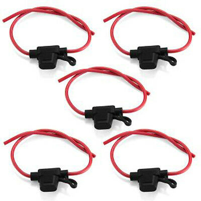 Safety Portable 5Pcs Car Inline Blade Fuse Holder Waterproof Small Size