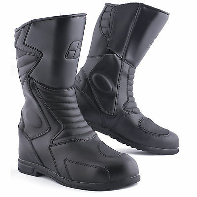 Tuzo Traveller Motorcycle Waterproof Leather Boots Black CE Approved Size 11