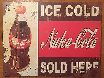 Tin Sign Vintage Nuka-Cola Ice Cold Sold Here!