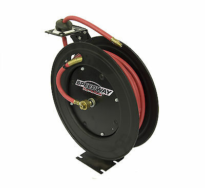 Speedway Retractable Air Hose Reel with 3/8 inch by 50 ft Hose MPN/Model 7640