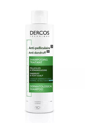 VICHY DERCOS ANTI-DANDRUFF SHAMPOO FOR OILY AND ITCHY SCALP 200ml. NEW FORMULA