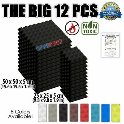 New 12pcs Bundle Studio Acoustic Panel Sound Treatment Pyramid Tiles KK1034