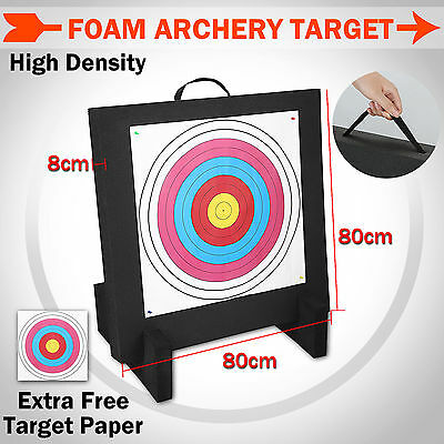 Foam Archery Target XPE High Density 80x80x8cm Self Healing Compound Recurve Bow