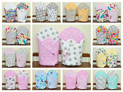 Baby Newborn Wrap/two sided/ sleeping bag/ you will love it/blue/pink/mint