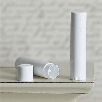 Lip Balm Tube Container & Top Set White Color * Top Quality *