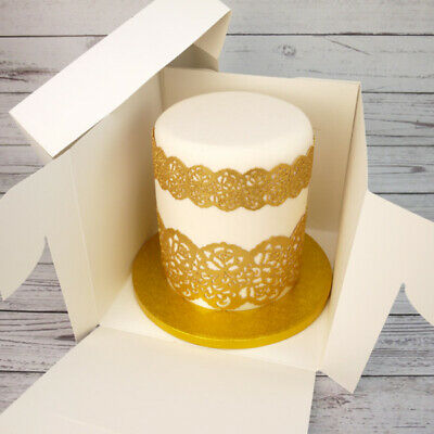 Tall Stacked Cake Box (9 x 8 Inches High)