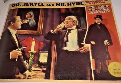 Dr Jekyll And Mr Hyde Fredric March + The Wild Party Clara Bow LC Bookplate