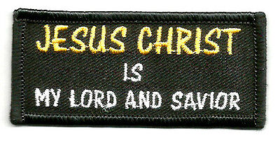 """JESUS CHRIST IS MY LORD AND SAVIOR"" - Church - Ministry - Iron On Patch"