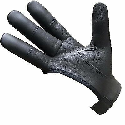 Archers Leather Shooting 4 Finger Glove Chocolate Brown & Black