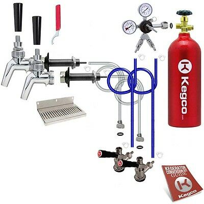 Kegco Kegerator 2-Tap Draft Beer Conversion Kit Door Mount All Stainless Contact