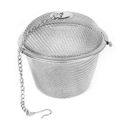 Tea Stainless Strainer Locking Tea Spice Mesh Herbal Ball Diam 6.5cm ED