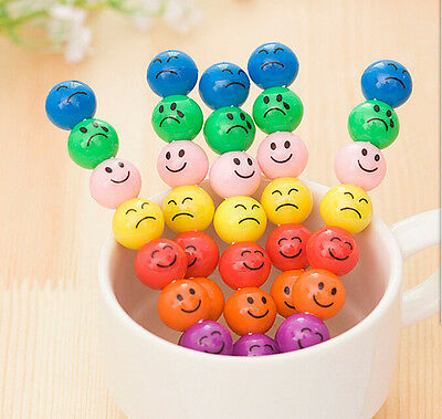 3 xFun Kid's Stacker Swap Smile Face Crayons Children Drawing Gift 7 Colours Pen
