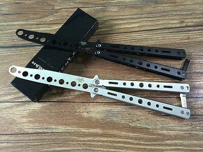 Survival Knife Metal Practice Butterfly Balisong  Training Knife Dull Tool yunos