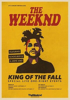 THE WEEKND King Of The Fall 2014 Tour PHOTO Print POSTER Starboy Abel Tesfaye 03