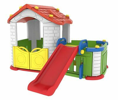 Sunshine Modular Playhouse Childrens Play Pen With Kids Slide **fast Delivery**