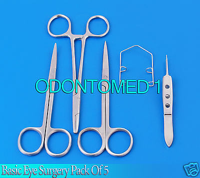 Basic Eye Surgery Pack of 5 Ophthalmic Micro Instrument