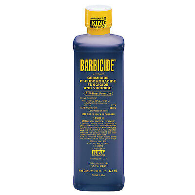 Barbicide Disinfectant Concentrate Solution Anti Rust Formula GERMICIDAL - 16Oz