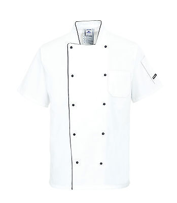 Chefs Jacket Short Sleeved Mesh Back Restaurant Catering Uniform Breathable C676