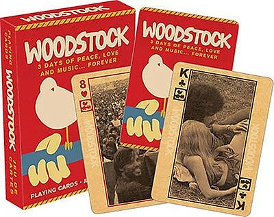 Woodstock Festival set of 52 playing cards + jokers (nm 52281)