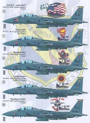Print Scale Decals 1/48 F-15E EAGLE 9-11 NEVER FORGET Part 1