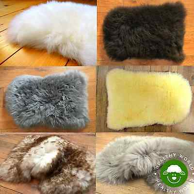 BARGAIN PRICE NOW! SHEEPSKIN Mini Rug Seat COVER Dog Cat Bed Motorcycle Car Pad