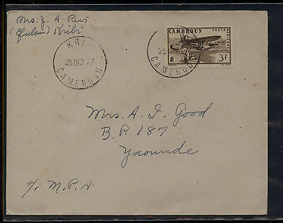 Cameroun   airmail  cover  local  use   1947   MS0512