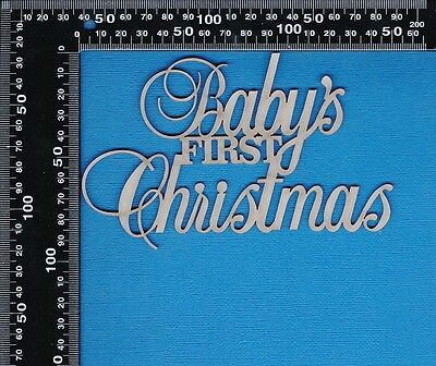 Chipboard A2Z Scraplets Baby's First Christmas Scripty Word
