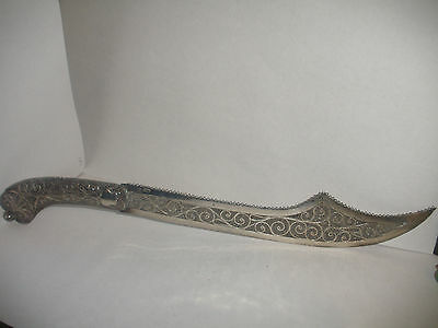 """Antique Imperial Russian silver 84 filigree letter opener 11"""" dagger /knife form"""