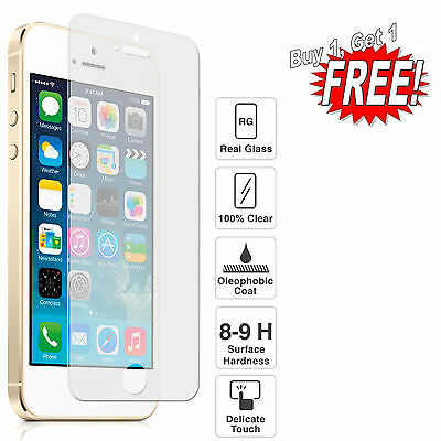 GENUINE TEMPERED GLASS SCREEN PROTECTOR PROTECTION FIT FOR APPLE iPhone 5 6 6+