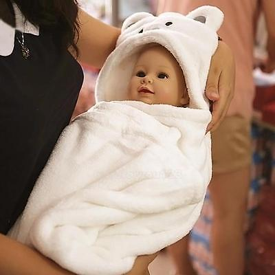 Cute Baby Kids Boy Girl Animal Cartoon Hooded Beach Bath Towel Wrap Bathrobe Hot
