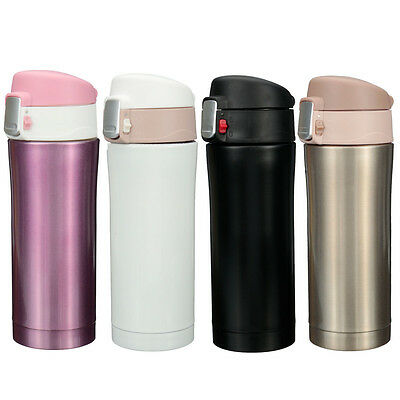 Stainless Steel Vacuum Insulated Thermal Flask Cup Coffee Mug Sport Drink Bottle