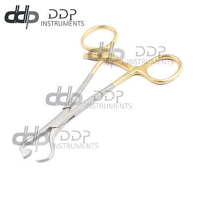 "Plate Bone Holding Forceps 5.5"" Gold Plated Surgical Orthopedic Instruments"