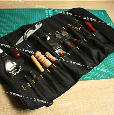 For Leather Craft DIY TOOL  Toolkit Pouch Hand Bag Leather Tools Storage Bag